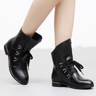 短靴马丁靴英伦机车靴平跟如何搭配