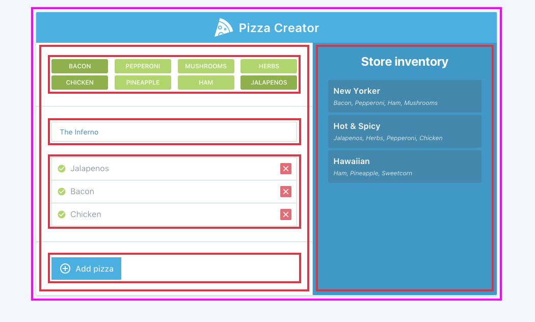 Angular Reactive Pizza
