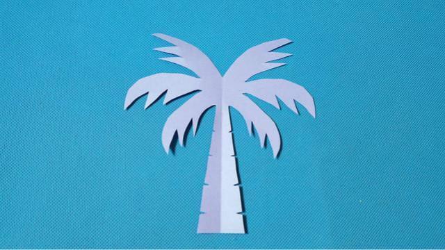 剪纸椰子树3 儿童剪纸教程大全