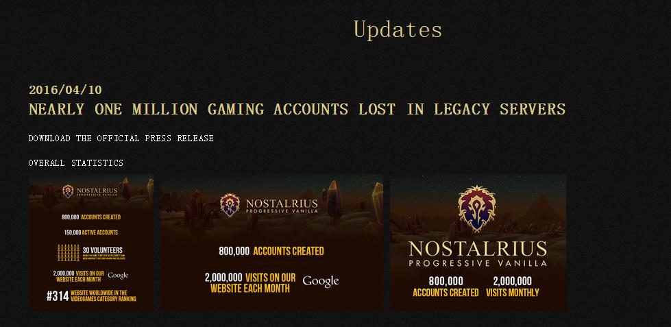 向暴雪宣战 著名魔兽私服Nostalrius将共享代码