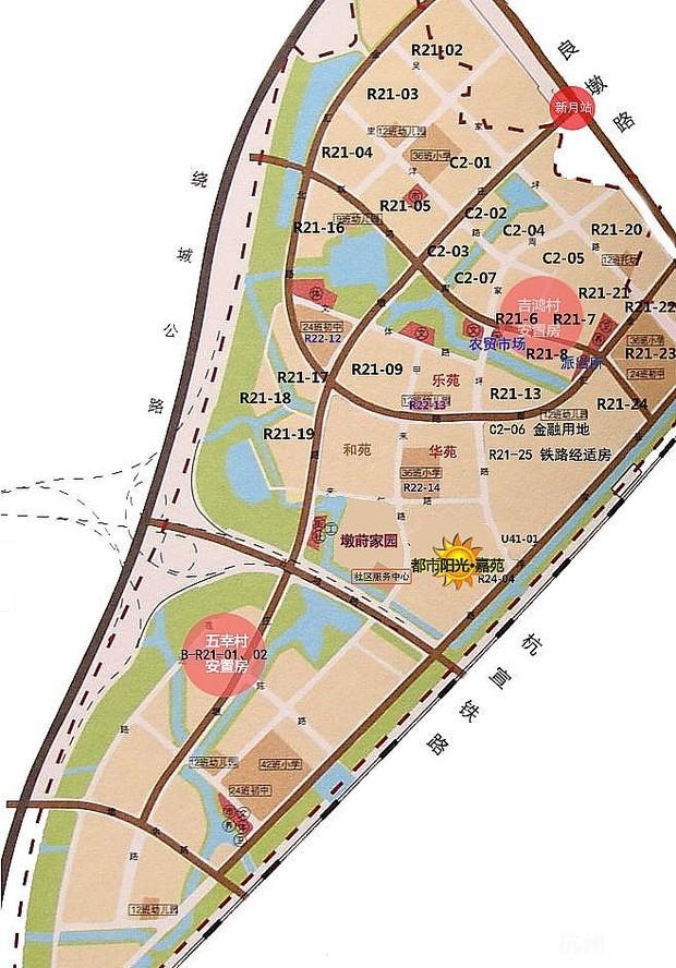 杭州三墩街道地图
