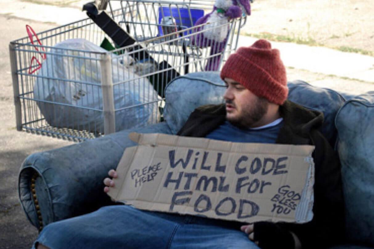 homeless programmer